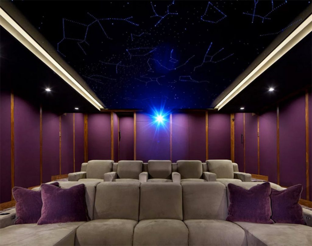dolby atmos home theater gains finishing touch a starlit. Black Bedroom Furniture Sets. Home Design Ideas