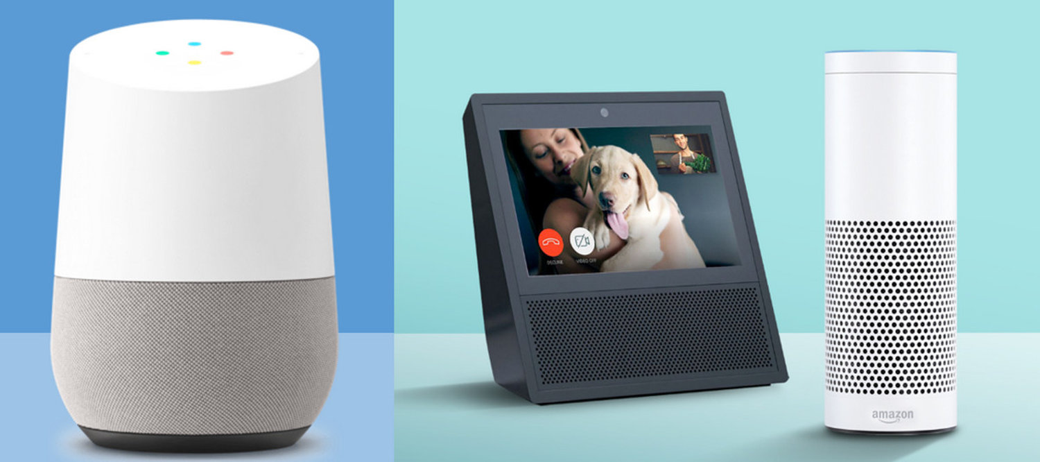 google home vs amazon echo show which works best electronic house. Black Bedroom Furniture Sets. Home Design Ideas