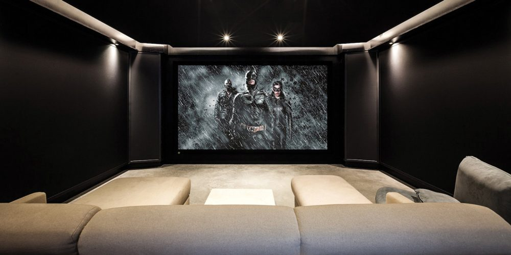 Somewhere Thereu0027s A Hardcore Batman Fan Playing All The Movies In The  Series On Repeat In His Dark Knight Themed Home Theater, Designed And Built  By ...