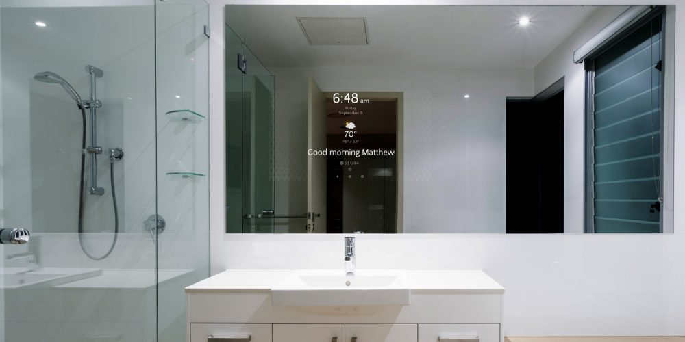Smart Bathroom séura introduces smart bathroom mirror - electronic house
