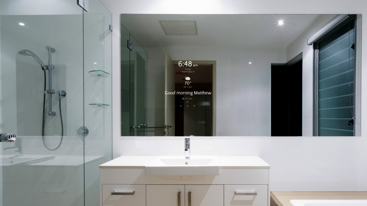 S ura introduces smart bathroom mirror electronic house - Smart bathroom design ...