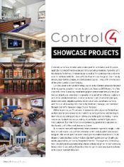 Control4 Showcase Cover