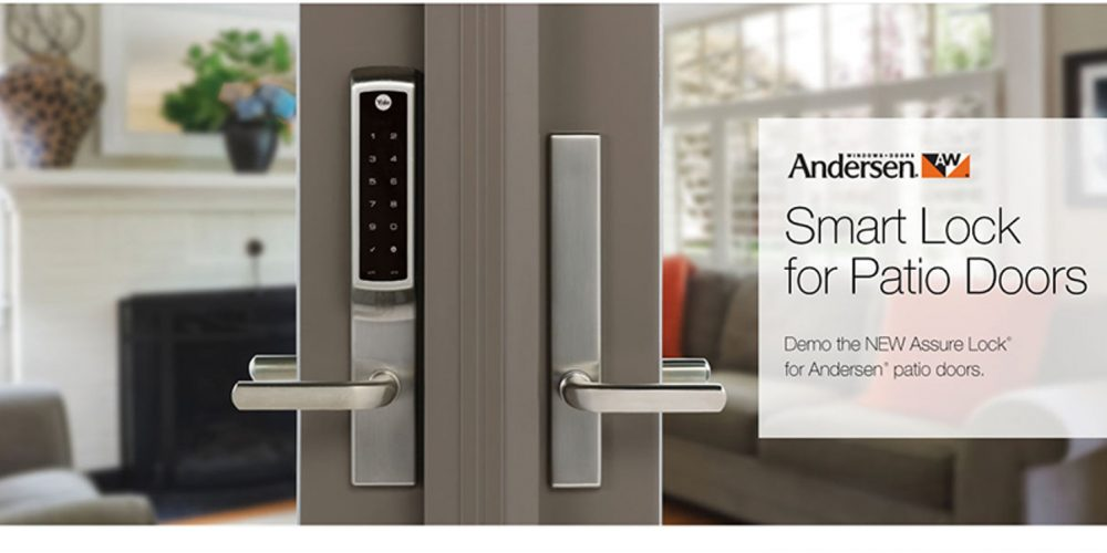 New yale smart lock designed to secure andersen hinged patio doors smart locks have been widely available for some time for the front door and thats a good thing given the fact that most break ins happen through the front planetlyrics Image collections