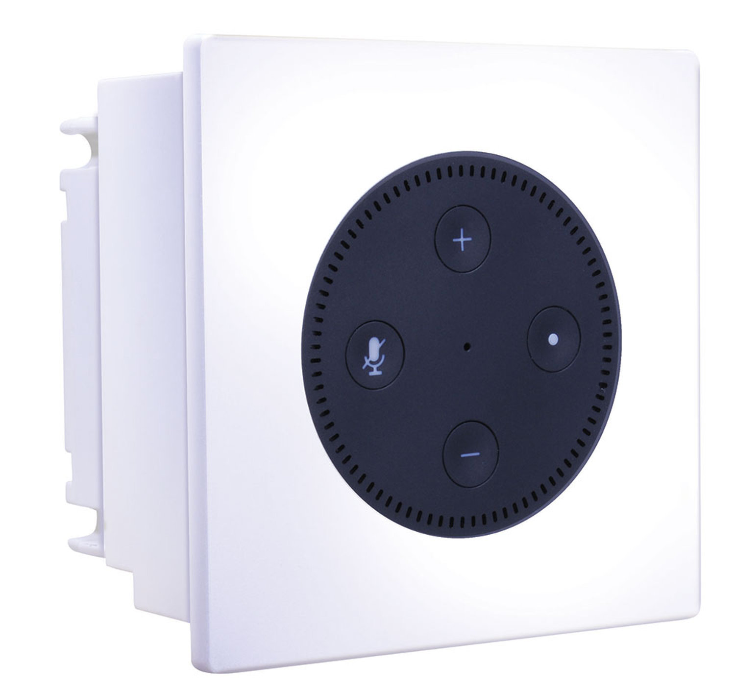 Amazon Echo Dot And In Wall Amplifier Combine To Power Speakers House Wiring Stereo Systems Voice Control Electronic