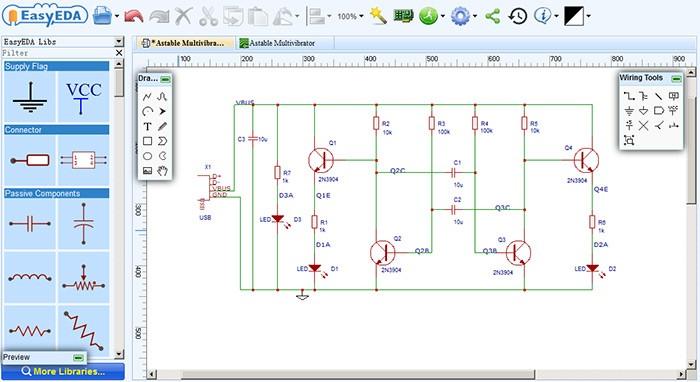 nine best online circuit simulator electronics infoline. Black Bedroom Furniture Sets. Home Design Ideas