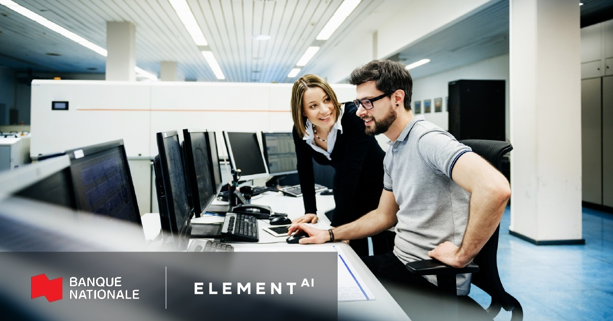Element AI et la Banque Nationale du Canada annoncent leur collaboration