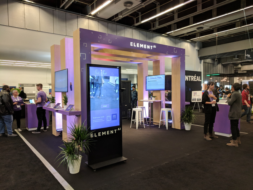 NeurIPS 2018 Element AI Booth