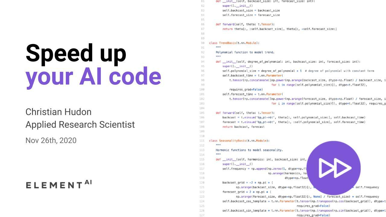 Speed up your AI code