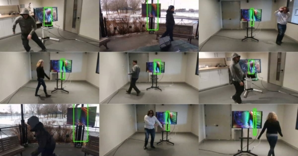 Physical adversarial textures that fool visual object tracking