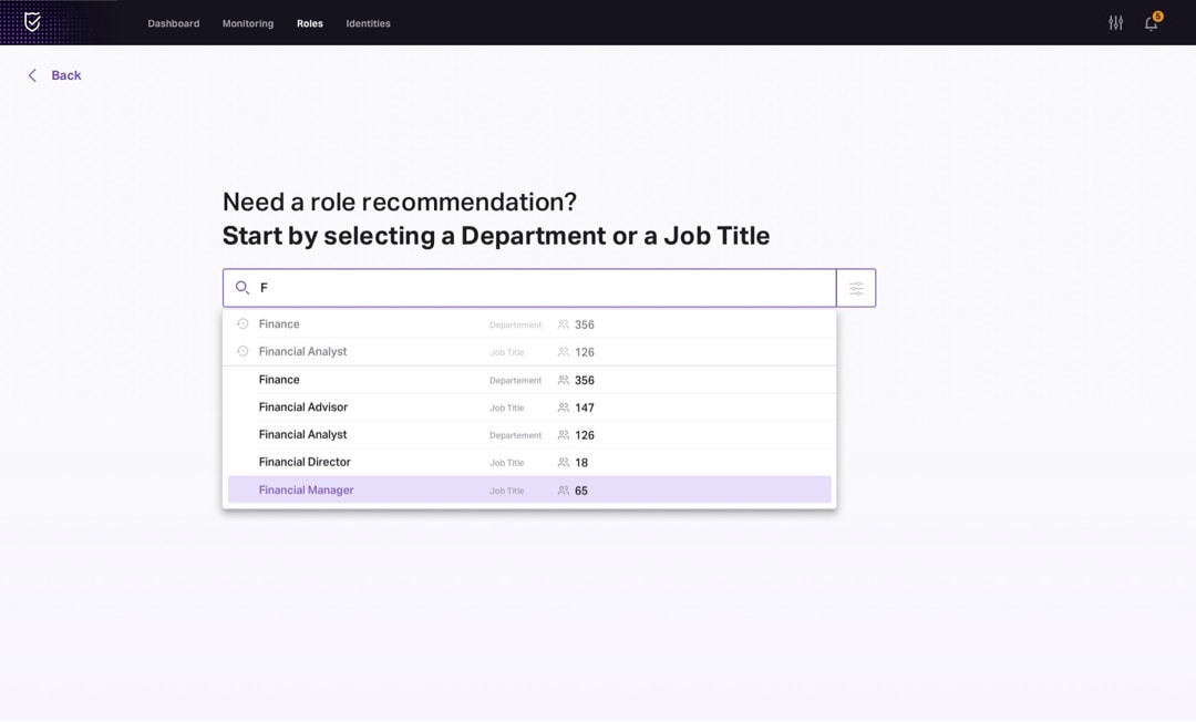 Ask for recommendation UI