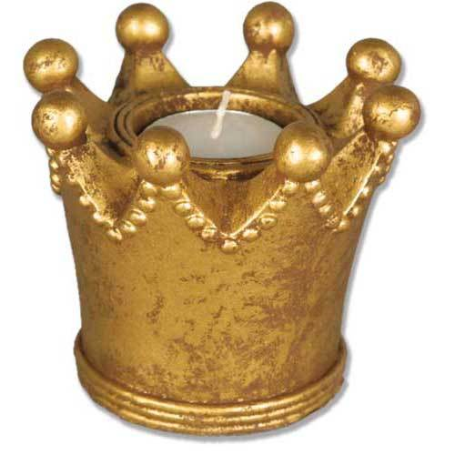 King Crown Candleholder 3.5H