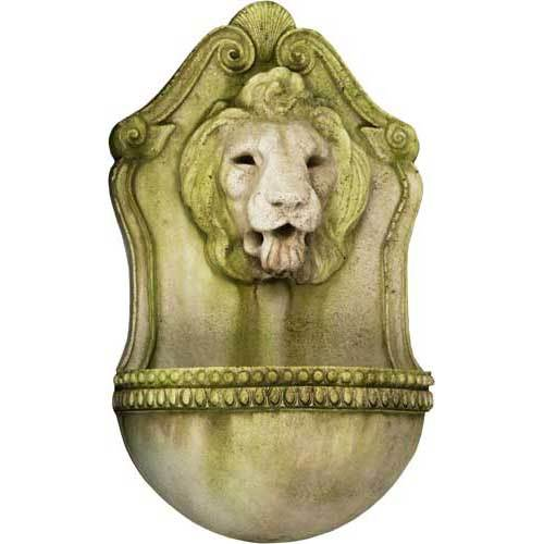 Aged Lion Wall Fountain 23