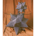 Zinc Star Table Base  18 H