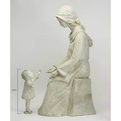 Seated Mary And Baby 57