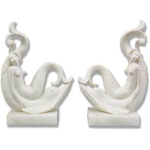 Pair Of Siren Bookends 8 H-