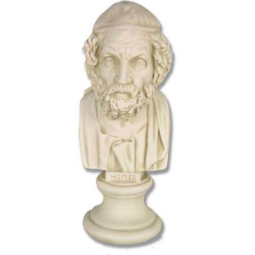 Homer Bust On Small Pedestal
