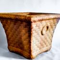Square Basket Planter W/Rings