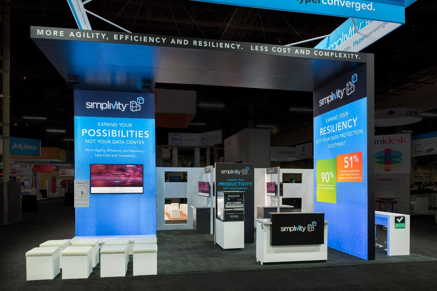 Simplivity VMWORLD Trade Show Booth