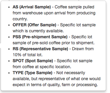Sample Types