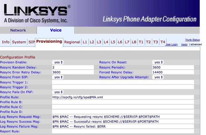 Linksys SPA8000 - SkySwitch Knowledge Base