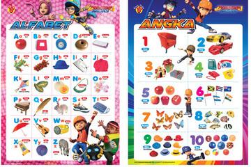 Paket Poster Boboiboy : Alfabet dan Angka