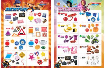 Paket Poster Boboiboy : Bentuk dan Warna
