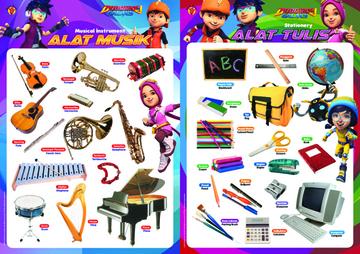 Paket Poster BoBoiBoy: Alat Musik & Alat Tulis