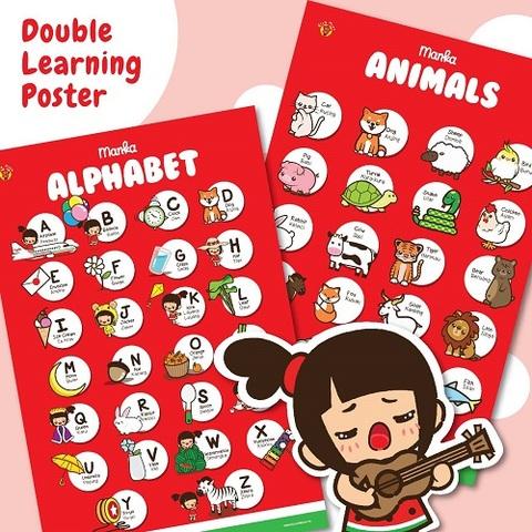 Learning Poster Manka Alphabet dan Animals