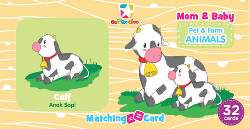 Matching Card: Mom & Baby Pet & Farm Animals