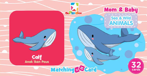 Matching Card: Mom & Baby Sea & Wild Animals