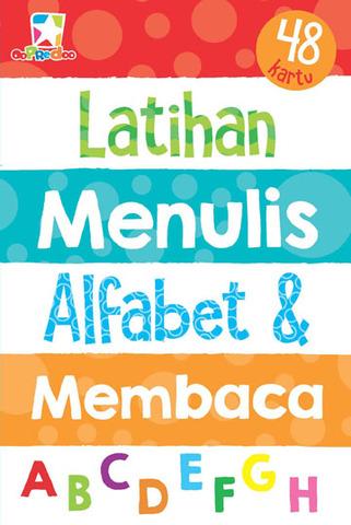 Kartu Latihan Menulis Alfabet dan Membaca