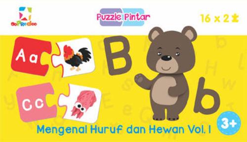 Puzzle Pintar: Mengenal Huruf dan Hewan Vol. 1