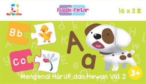 Puzzle Pintar: Mengenal Huruf dan Hewan Vol. 2