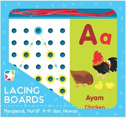 Opredo Lacing Boards: Mengenal Huruf A-H dan Hewan
