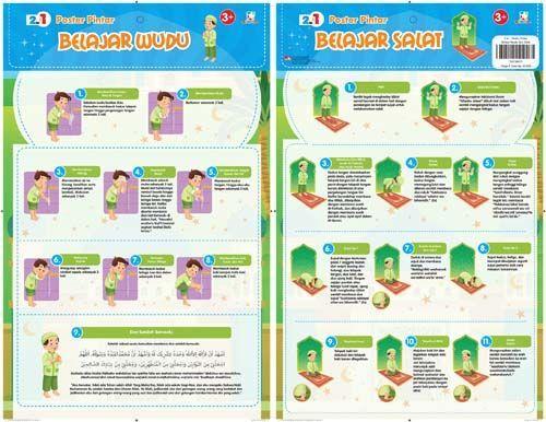 2 in 1 Poster Pintar : Belajar Wudu dan Salat