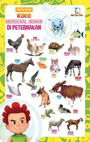 Opredo Poster Pintar Kiko: Mengenal Hewan Ternak & Hewan Liar