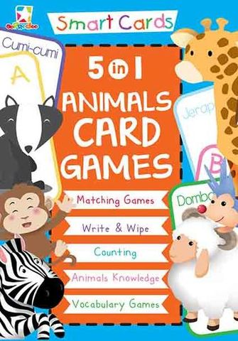 Opredo Smart Cards: 5 in 1 Animals Card Games