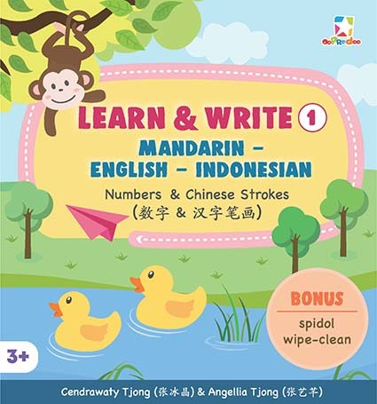 Opredo Learn & Write 1 Mandarin - English - Indonesian: Numbers & Chinese Strokes