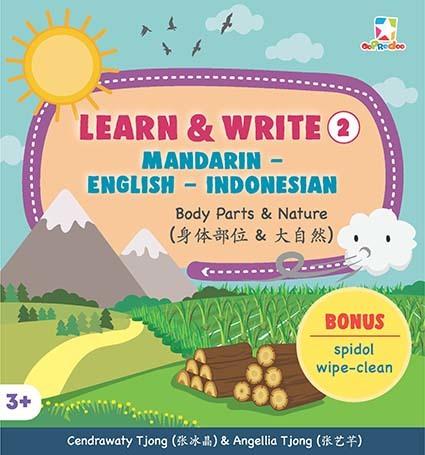 Opredo Learn & Write 2 Mandarin - English - Indonesian:  Body Parts & Nature