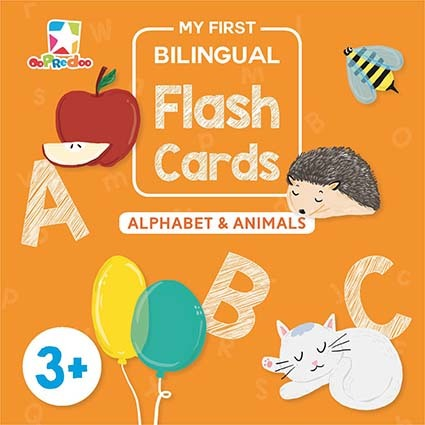 Opredo My First Bilingual Flash Cards: Alphabet & Animals