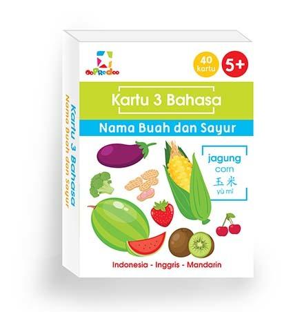 Opredo Kartu 3 bahasa : Nama Buah dan Sayur