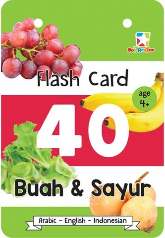 Opredo Flash Card Hijaiah: 40 Buah & Sayur