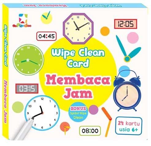 Opredo Wipe Clean Card - Membaca Jam