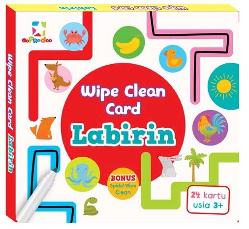 Opredo Wipe Clean Card - Labirin