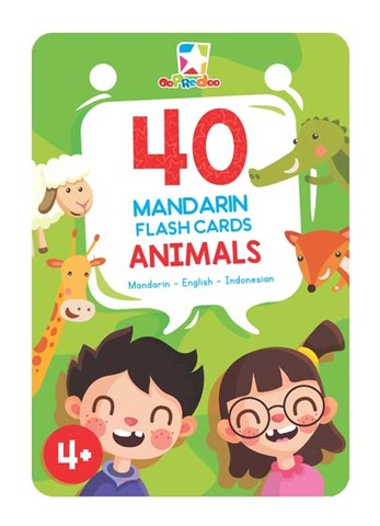 Opredo 40 Mandarin Flash Cards: Animals