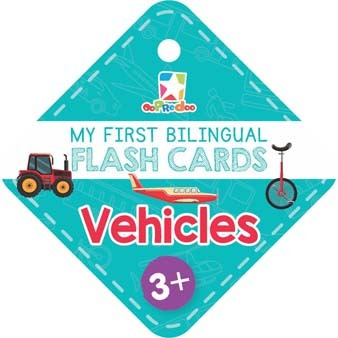 Opredo My First Bilingual Flash Cards: Vehicles