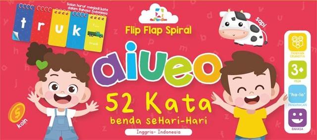 Opredo Flip Flap Spiral aiueo - 52 Kata Benda Sehari-hari