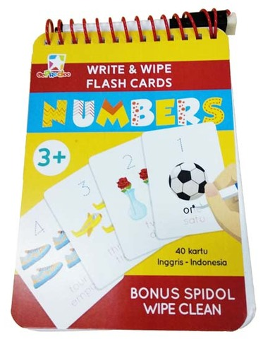Opredo Write & Wipe Flash Cards - Numbers