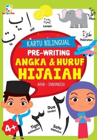 Opredo Kartu Bilingual: Pre-Writing Angka & Huruf Hijaiah