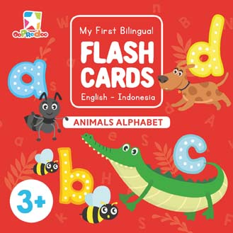 Opredo My First Bilingual Flash Cards: Animals Alphabet
